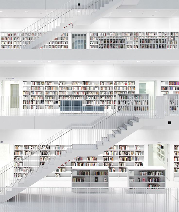 Stuttgart's Municipal Library - Stadtbibliothek Stuttgart, Germany Books and Things #booksandthings