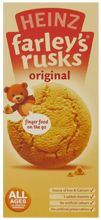 Heinz Farley's Rusks - you felt very lucky as a child if your mum would buy a box and let you have one! I think there's something about them that appeals to children and adults of all ages, not just infants.