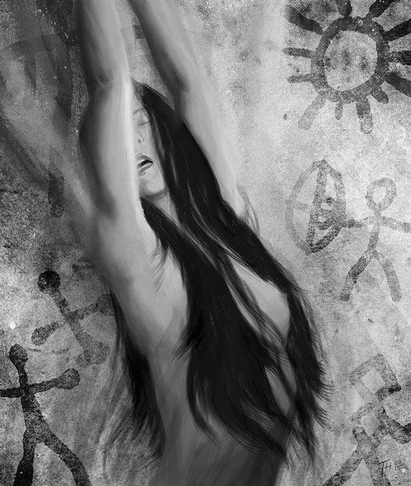 """Shaman woman"" illustration by Teemu Helenius on Behance"