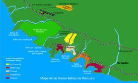 Huatulco Mexico Map