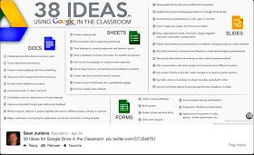 Educational Technology and Mobile Learning: 38 Ideas to Use Google Drive in Class
