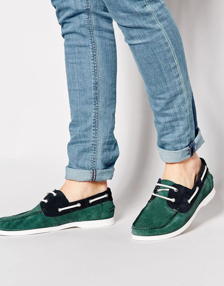 Image 1 ofASOS Boat Shoes in Suede
