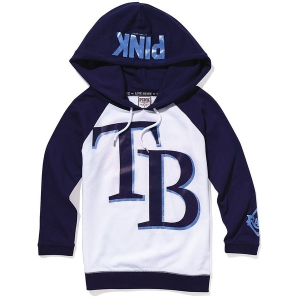Victoria's Secret Tampa Bay Rays Baseball Hoodie via Polyvore
