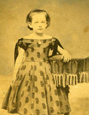 Standing Defiant Girl with Great Dress Civil War Fashion | eBay