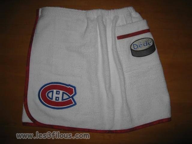 Go Habs Go  Hockey Les Canadiens Peignoir pour hommes personnalisé.