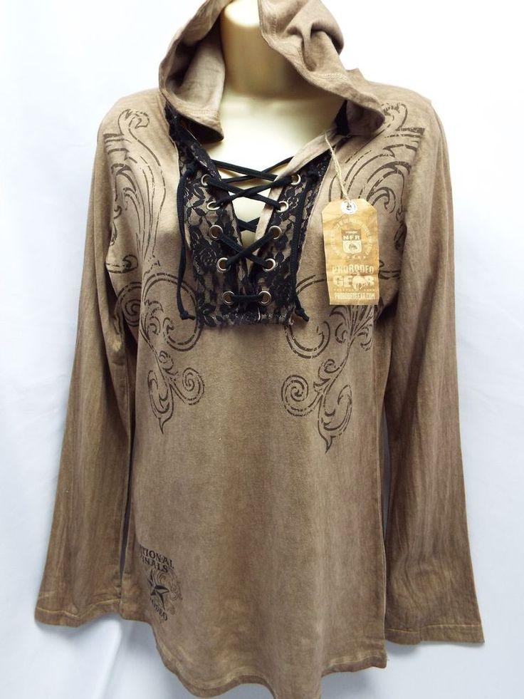 Wrangler Pro Rodeo Hoodie Women's/Juniors PRCA National (XL) Country Retail $55 #Wrangler #PulloverHoodie