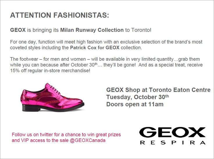 GEOX Pop Up Event  GEOX Shop Toronto Eaton Centre