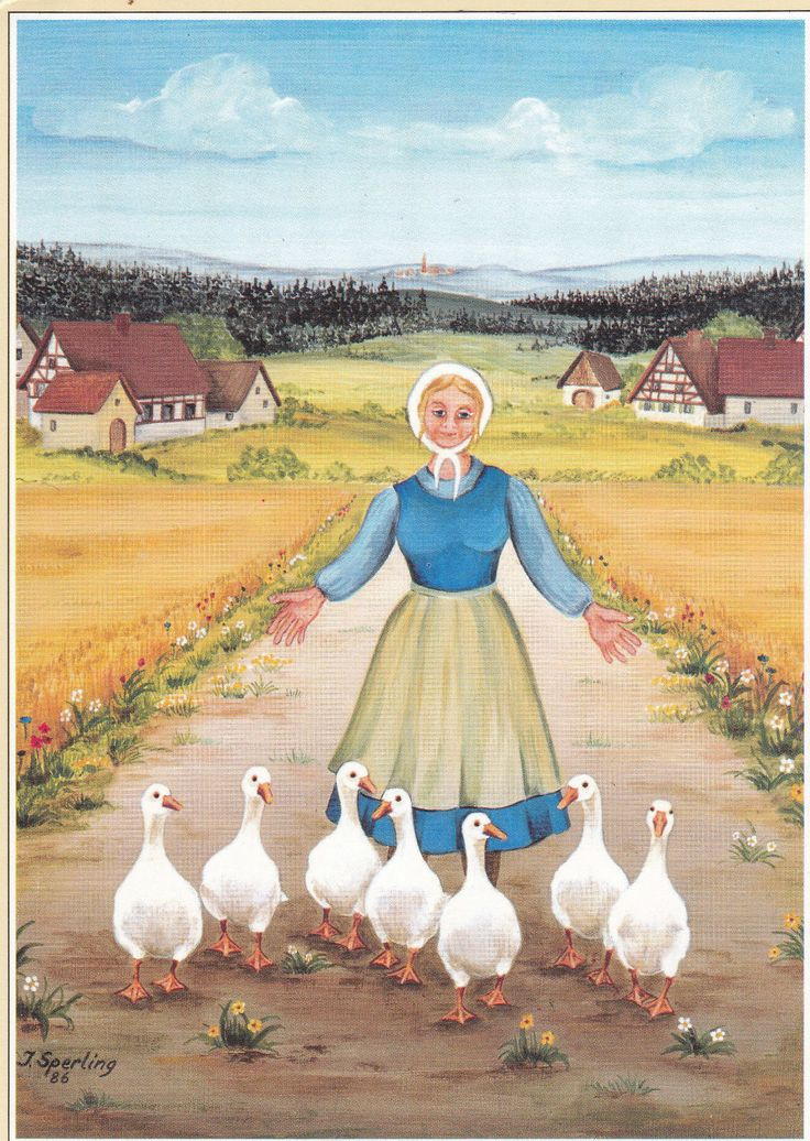 AK Künstlerkarte INGEBORG SPERLING Gänseliesel Vogel Gans | eBay