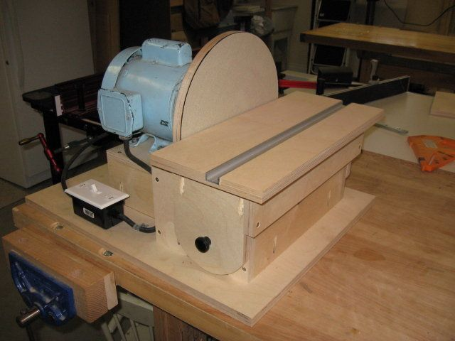 Home made disc sander by jeff for 10 table saw sanding disc
