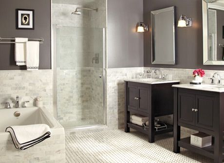 24 best images about sdb on pinterest white tile for Home depot bathroom remodel ideas