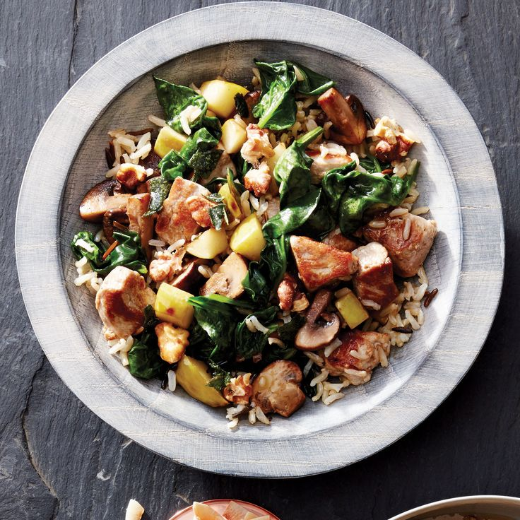 Rethink rice! Wild rice, a semi-aquatic grass, is rich in antioxidants and minerals like magnesium, phosphorus and zinc. One more reason to make this wild and brown rice bowl with pork and apple tonight. | Health.com