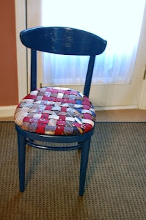Tie chair, but this idea could be transformed into a cool cushion cover.