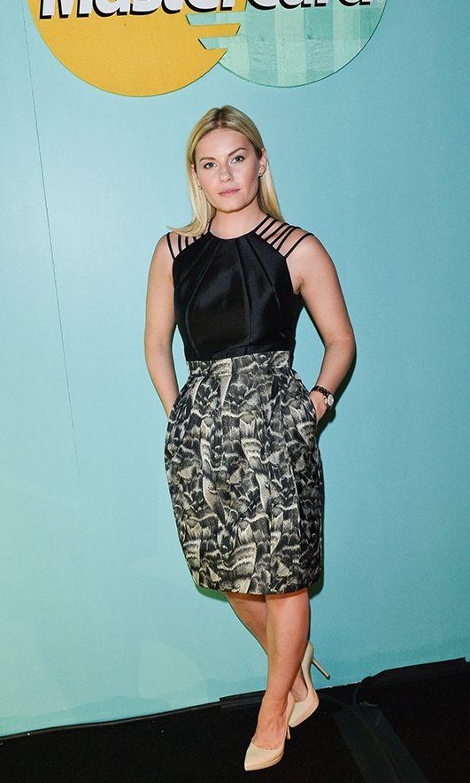 Celebrity Sighting: Elisha Cuthbert at Toronto Fashion Week, Spring/Summer 2014