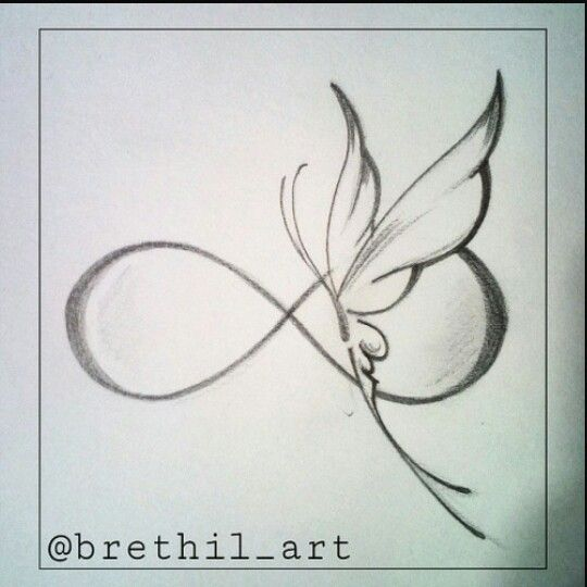 Butterfly Infinity tattoo