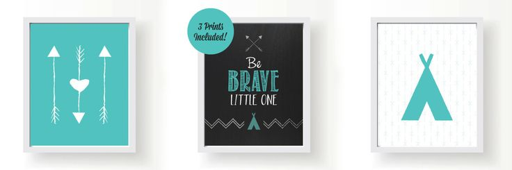 Be Brave Little One 3 Printables Included by HelloGilbertDesigns