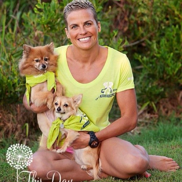 Hayley Bateup all ready for the RSPCA's Million Paws Walk. Join the cause www.millionpawswalk.com.au #hayleybateup_ironwoman #millionpawswalk #RSPCAMillionPawsWalk #rspcaqld