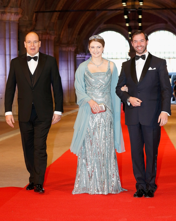 HRH Crown Princess Stephanie of Luxembourg wears ELIE SAAB Pre-Fall 2012 to a dinner hosted by Queen Beatrix of the Netherlands.