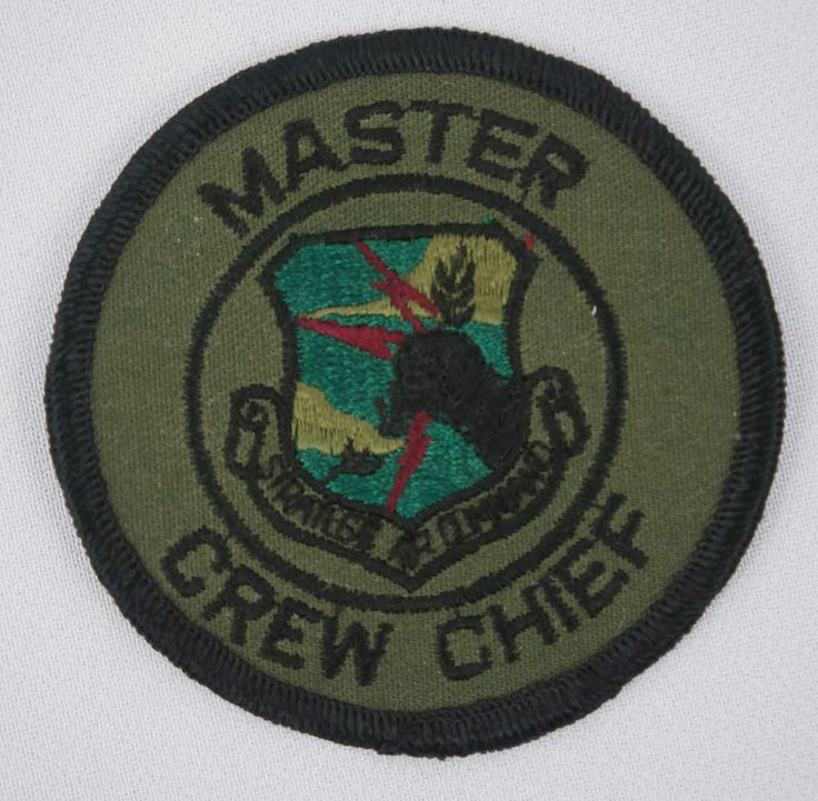 USAF Strategic Air Command Master Crew Chief Patch