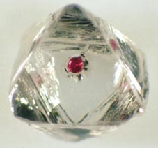 Garnet in diamond.