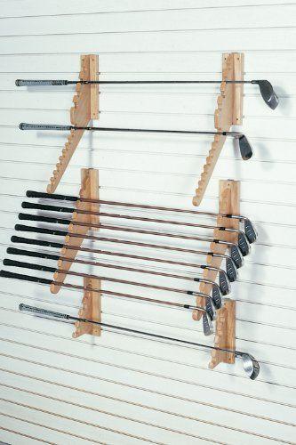 FA Edmunds Wall Mount Downslat Golf Club Set Holder Display Cabinet Storage Rack Organizer