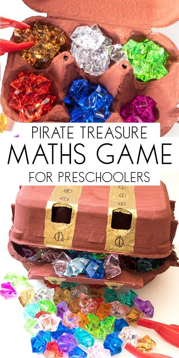 DIY Pirate Math Game for Preschoolers