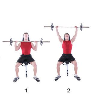 seated barbell military press  Seated Barbell Military press