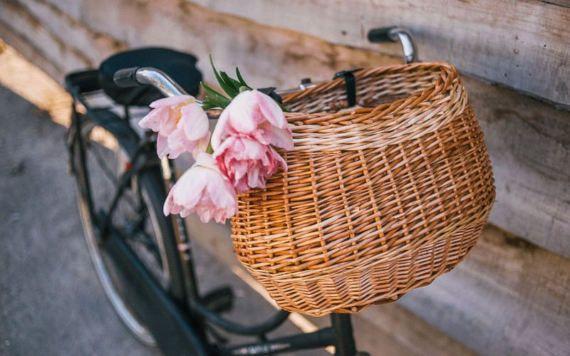 Handcrafted bicycle basket, Wicker bike baskets, Front bike basket, Dog bike basket, Bike basket, Basket for bike, pet basket for bike