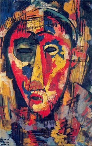 Green Eye Mask  - Amadeo de Souza-Cardoso