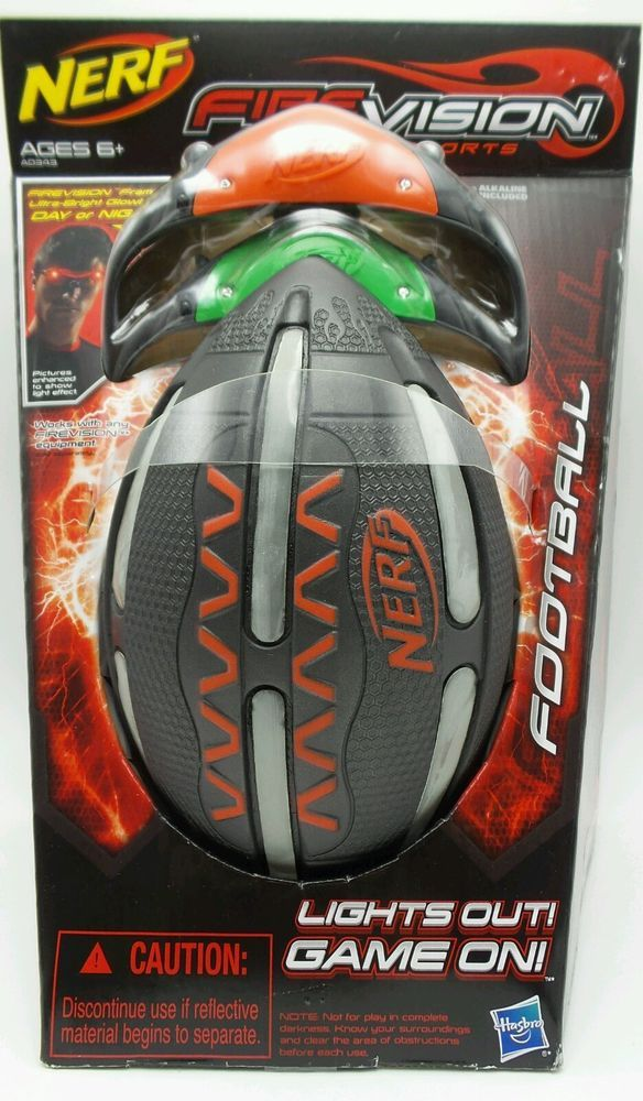 Nerf Firevision Sports Football  Firevision Glasses Lights Out Game On New #NERF