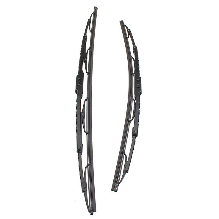 Cochelimpiaparabrisasdelanterodelosmarcos del par del metal Cuchillas para BMW series3 E46 1998-2006