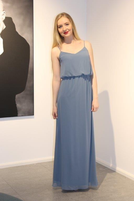 Chiffon dress in beautiful color slate