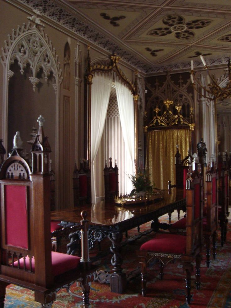 Dinning room in Bitov Caste, Czech Republic