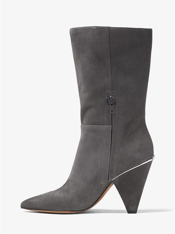 ee9702bac5ee ON SALE   Michael Kors. Lizzy Suede Mid-Calf Boot in Charcoal ...