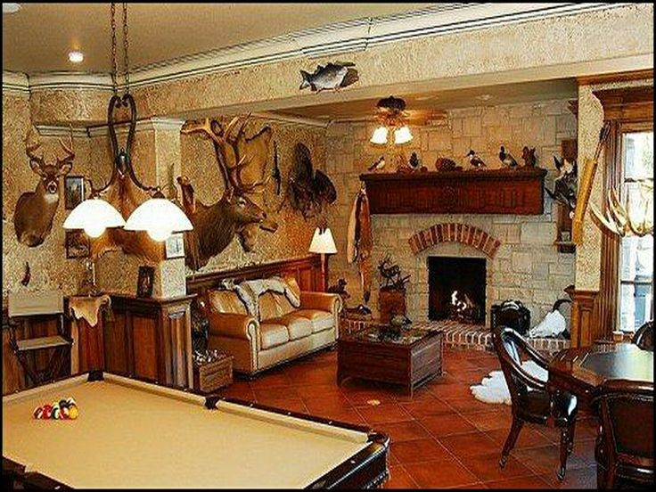 Fun rooms hunting theme man cave hometalk remodels for Interior design theme ideas