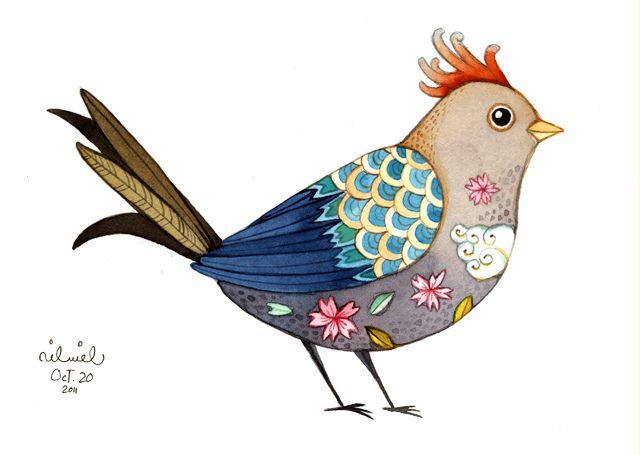 Tattooed bird