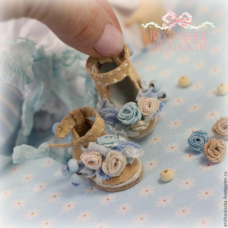 Украшаем миниатюрные туфельки для куклы в стиле шебби-шик: видеоурок