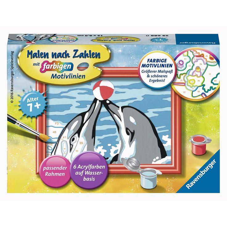 """Ravensburger - Malen nach Zahlen: Spielende Delfine - Ravensburger - Toys""""R""""Us"""