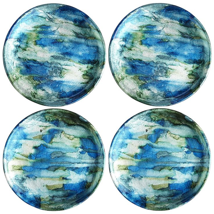 Blue U0026 Green Foil Coasters