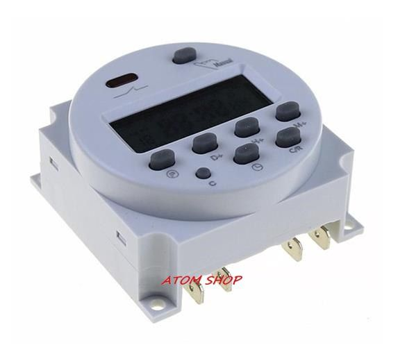 Oktimer Cn101a Led Digital Power Programmable Electronic Timer Switch 12v 16a With Cover Timer Digital Led
