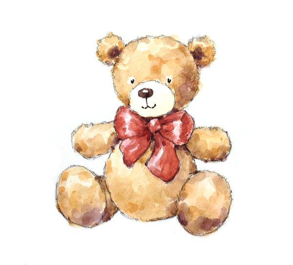 Create a whimsical teddy bear painting with these simple instructions!