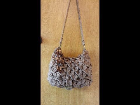 CROCHET How to #Crochet Bobble Stitch Handbag Purse #TUTORIAL #89 LEARN CROCHET - YouTube