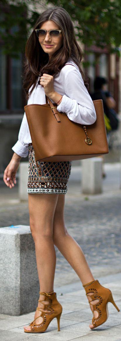 Zara Multicolor Women's Aztec Print Sequin Embellished Shorts