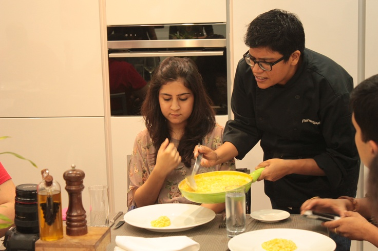 That awesome moment when the Super Chef serves you!