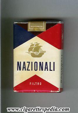 Nazionali con il filtro pacchetto molle le sigarette dei nonni