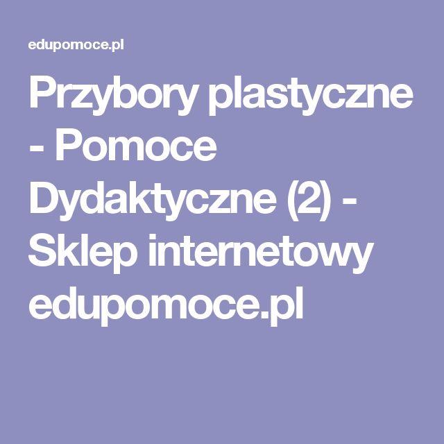 Przybory plastyczne - Pomoce Dydaktyczne (2) - Sklep internetowy edupomoce.pl