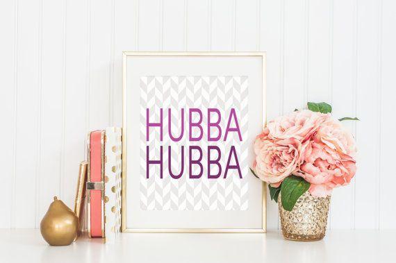 8x10 Hubba Hubba  Herringbone Instant Download by FloraAndFont