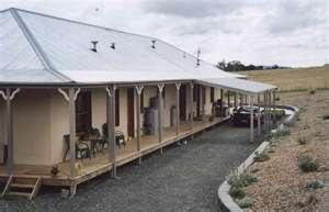 Sutton Forest cement rendered straw bale home