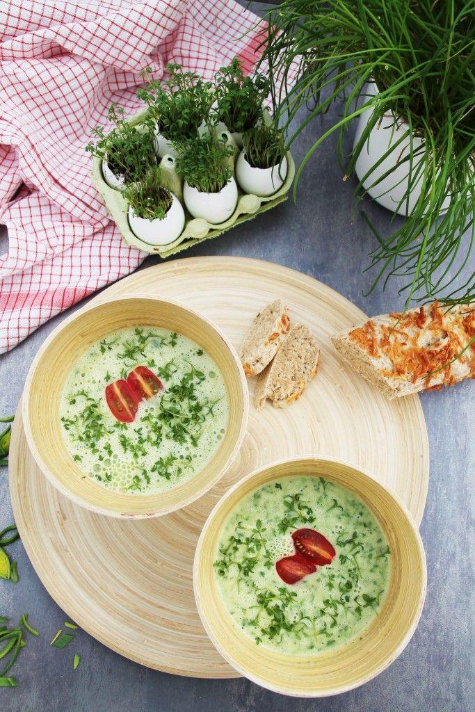 Rucolasuppe mit Kresse - Suppe - Frühling - www.candbwithandrea.com - Rezept