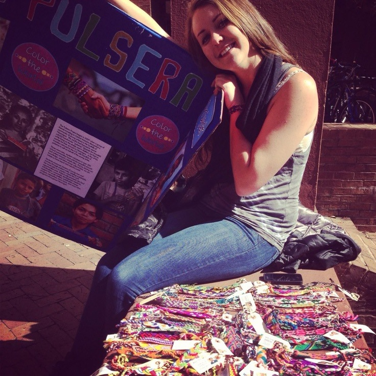 Pulsera sale at the College of Charleston! Get your Spanish club or service organization involved with the Pulsera Project by visiting our website, www.pulseraproject.org.