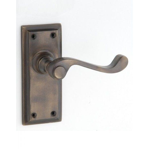 Antique Brass Door Handles - Small Milton Range